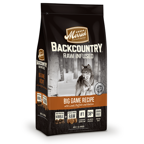 Merrick Grain Free Backcountry Raw Infused Big Game Recipe Dog Food