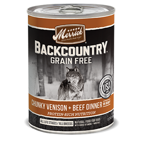 Merrick Grain Free Backcountry Chunky Venison and Beef Canned Dog Food