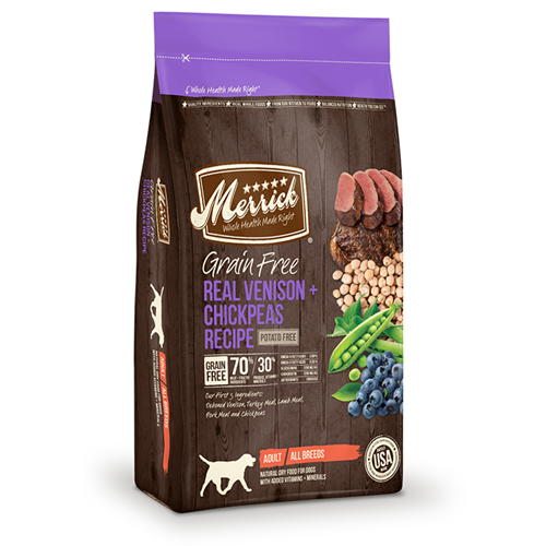Merrick grain-free Venison and Chickpeas Dry Dog Food