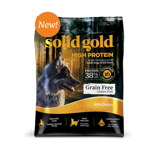 Solid Gold Grain Free HIGH PROTEIN Chicken Dry Dog Food