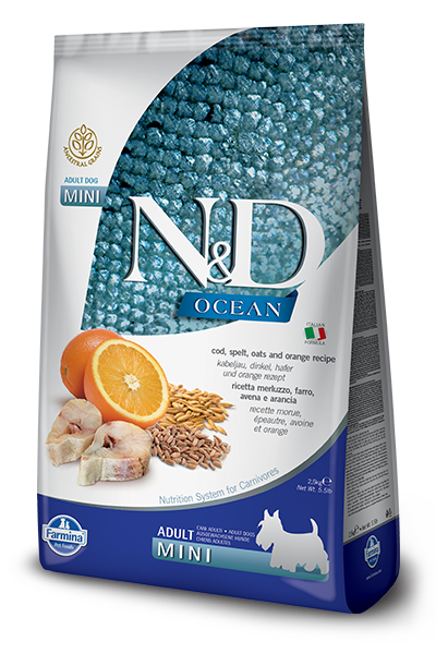 Farmina Natural & Delicious Ocean Cod & Orange Adult Mini Dog Food