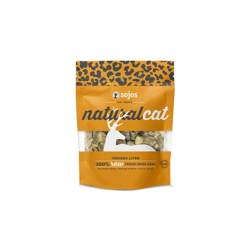 Sojos NaturalCat Venison Liver Freeze Dried Cat Treats