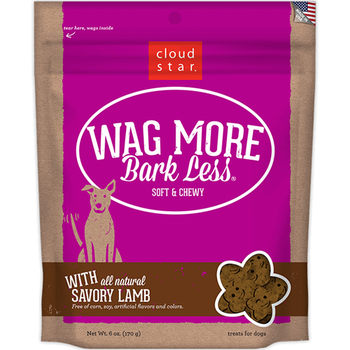 Cloud Star Wag More Bark Less Soft & Chewy Treats - Lamb