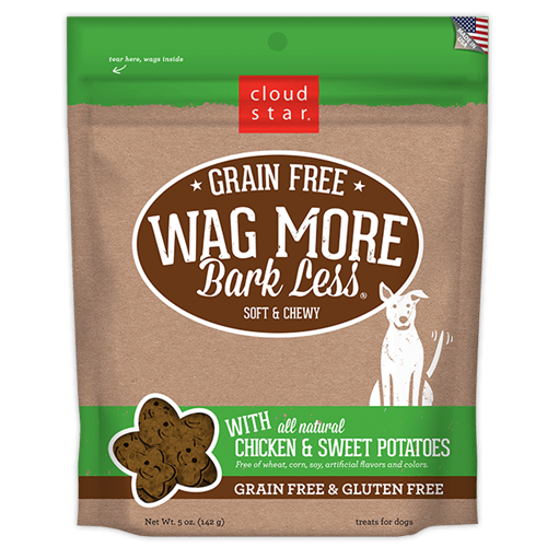 Cloud Star Wag More Bark Less Grain Free Soft & Chewy Treats Chicken & Sweet Potato