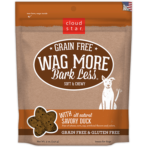 Cloud Star Wag More Bark Less Grain Free Soft & Chewy Treats Duck