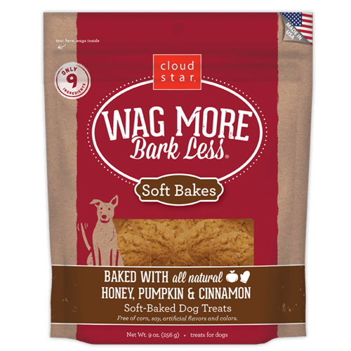 Cloud Star Wag More Bark Less Soft Baked Honey Pumpkin Cinnamon Dog Treats
