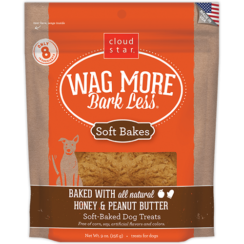 Cloud Star Wag More Bark Less Soft Baked Honey and Peanut Butter Dog Treats
