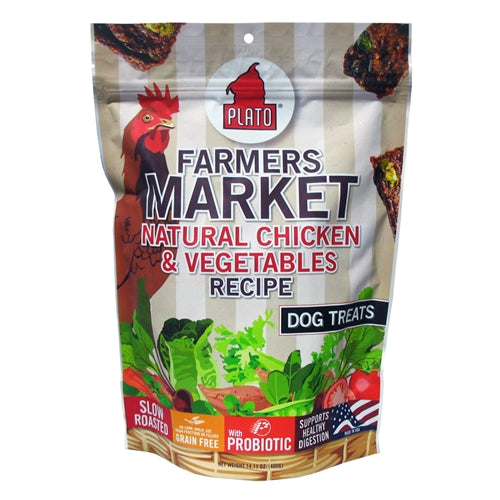 Plato Dog Treat Farmers Market Chicken and Veggie Strips
