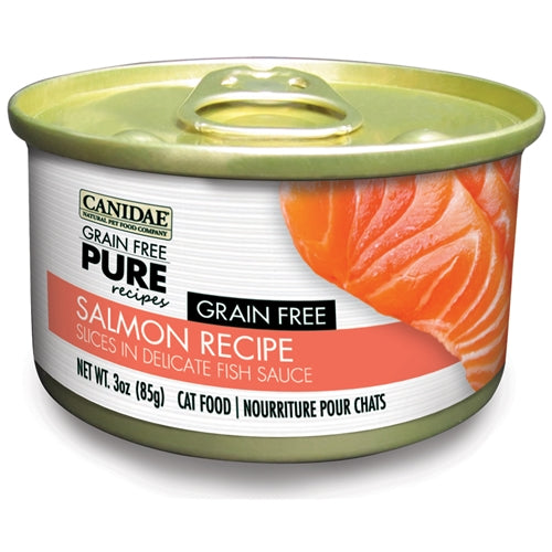 CANIDAE® GRAIN FREE PURE® Limited Ingredient Diet  GRAIN FREE WITH SALMON  SLICED WET FOOD IN BROTH