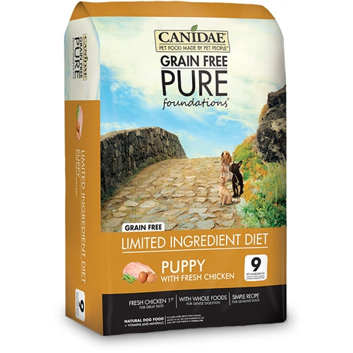 CANIDAE Grain Free PURE foundations Dry Puppy Food