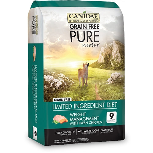 CANIDAE Grain Free PURE resolve Weight Management Dry Dog Food