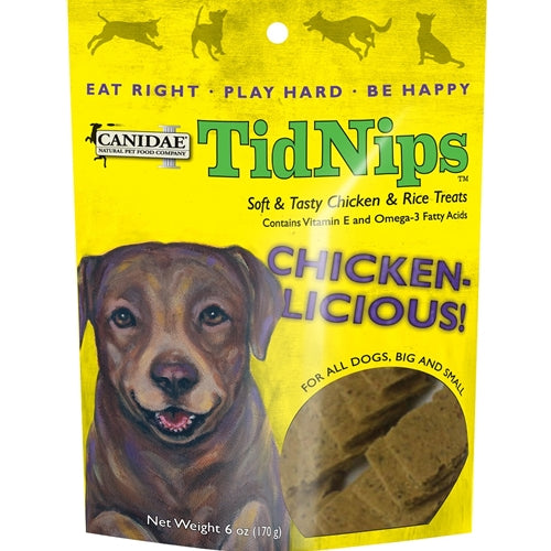CANIDAE Tidnips Chicken-Licious Soft Treats for Dogs