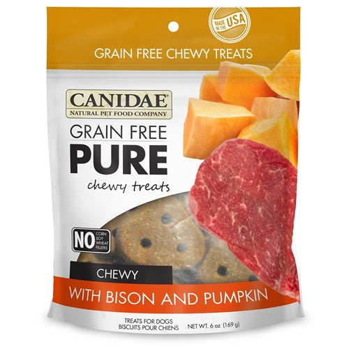 CANIDAE Grain Free pure Chewy Bison & Pumpkin treats for Dogs