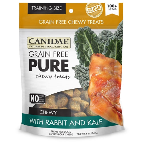CANIDAE Grain Free pure Chewy Rabbit & Kale treats for Dogs