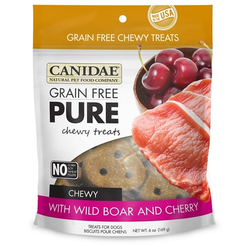 CANIDAE Grain Free pure Chewy Wild Boar & Cherry treats for Dogs