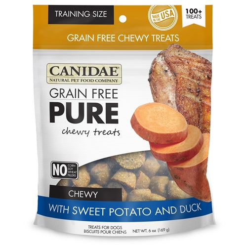 CANIDAE Grain Free pure Chewy Sweet Potato & Duck treats for Dogs