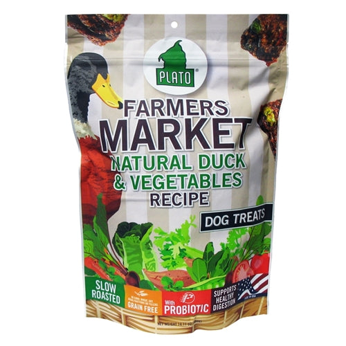 Plato Dog Treat Farmers Market Duck and Veggie Strips
