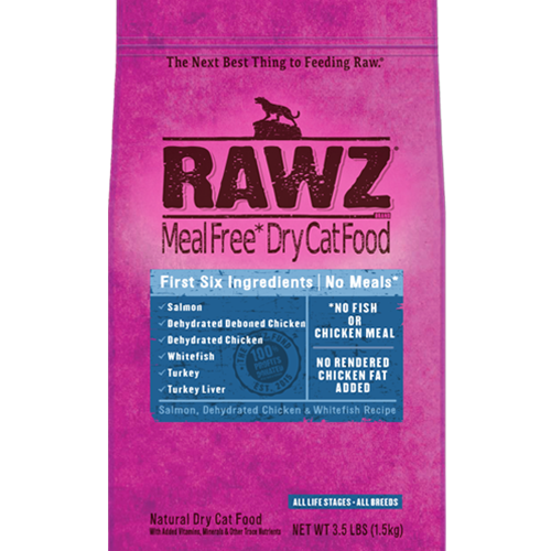 RAWZ Dehydrated Salmon, Chicken and Whitefish Recipe for Cats