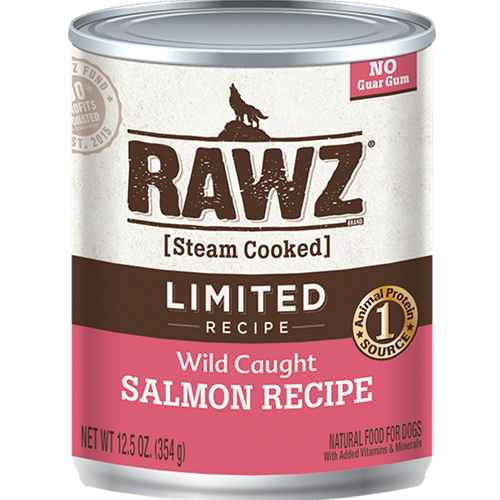 RAWZ Wild Caught Salmon Recipe Canned Food for Dogs