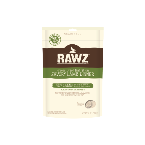 RAWZ Freeze Dried Savory Lamb Dinner for Dogs