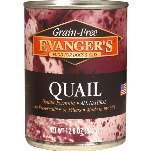 Evangers Grain Free Cooked Quail Canned Dog Food