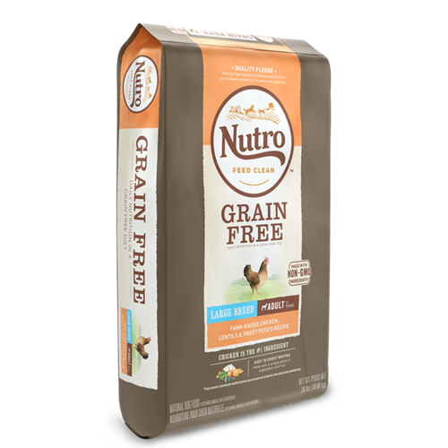 NUTRO GRAIN FREE Chicken, Lentils and Sweet Potato Large Breed Dry Dog Food