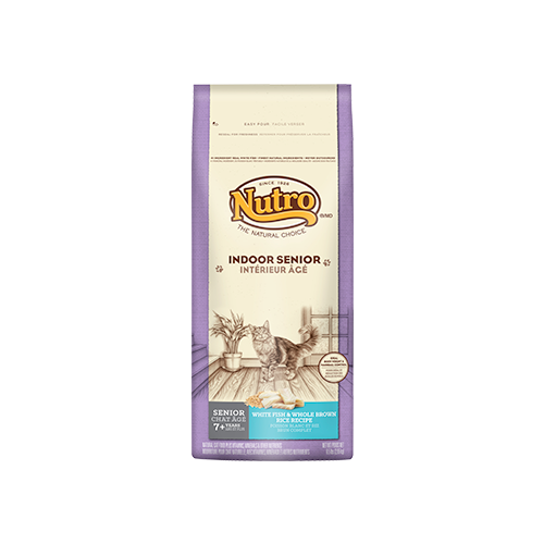 Nutro Indoor Whitefish and Brown Rice Dry Food For Senior Cats
