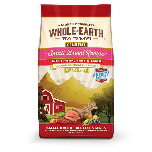 Whole Earth Farms Grain Free Small Breed Pork, Beef and Lamb Dry Dog Food