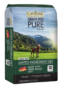 CANIDAE® Grain Free PURE Land® Adult Dog Formula Made With Fresh Bison