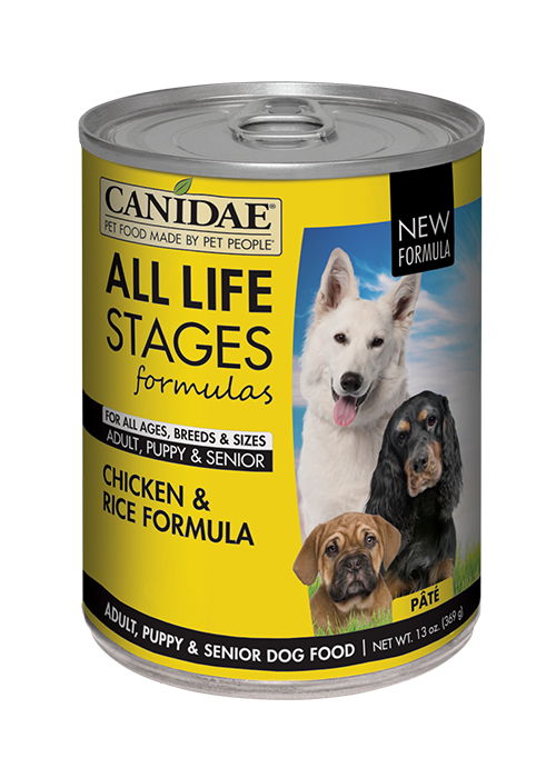 CANIDAE® ALL LIFE STAGES For All Dogs  CHICKEN & RICE FORMULA  WET FOOD