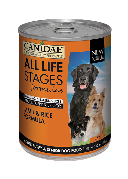 CANIDAE® ALL LIFE STAGES For All Dogs  LAMB & RICE FORMULA  WET FOOD