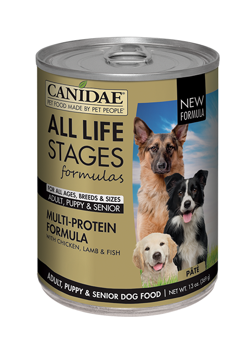 CANIDAE® ALL LIFE STAGES For All Dogs  CHICKEN, LAMB & FISH FORMULA  WET FOOD