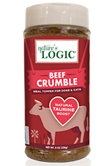 Nature's Logic Beef Crumble Meal Topper for Dogs and Cats