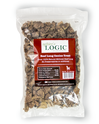 Nature's Logic Beef Lung Canine Treat