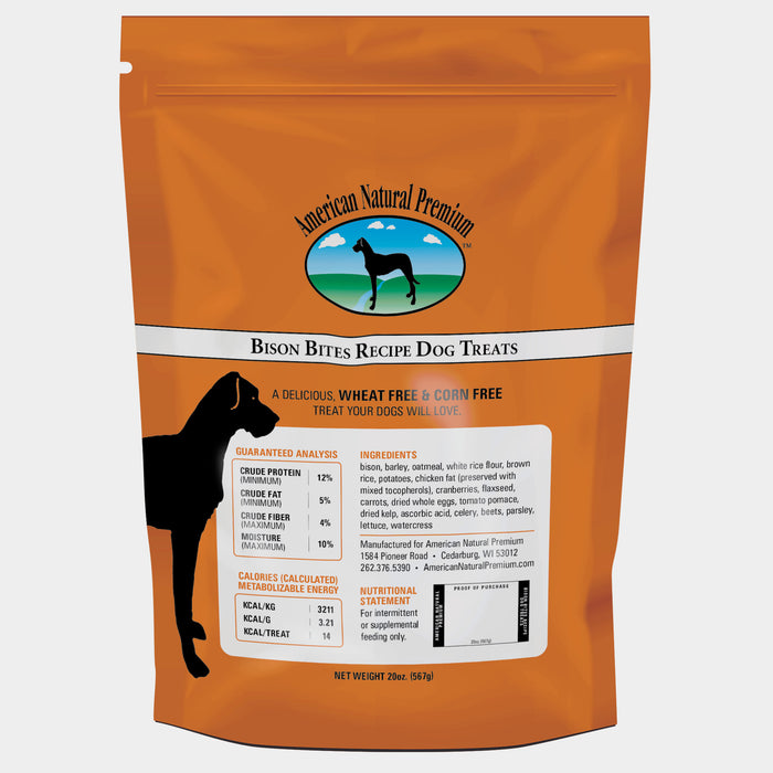 American Natural Premium Bison Bites Dog Treats