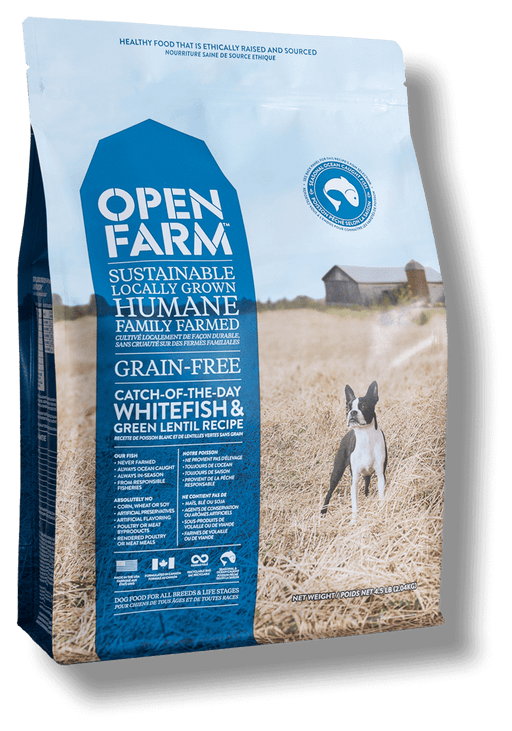 OPEN FARM Grain-Free Catch-Of-The-Season Whitefish & Green Lentil Recipe for Dogs