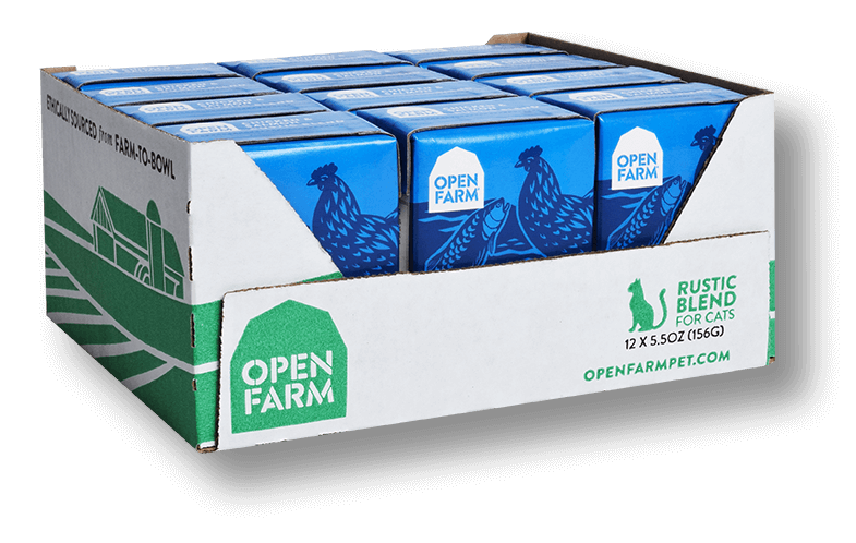 OPEN FARM Grain-Free Chicken & Salmon Rustic Blend for Cats