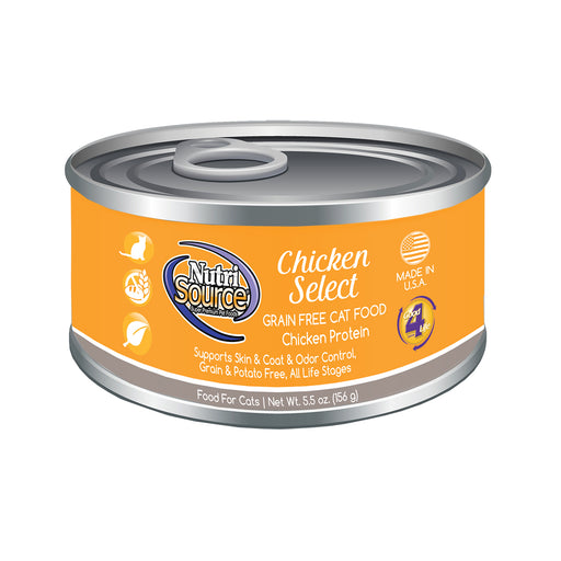 Nutrisource Grain Free Chicken Select Canned Cat Formula