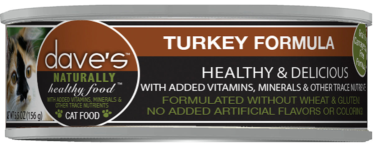 Dave's Naturally Healthy Canned Cat Food Turkey Recipe