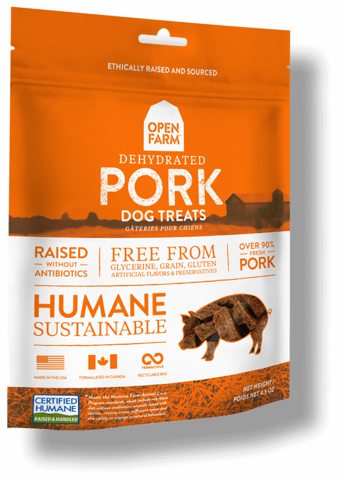 OPEN FARM Grain-Free Dehydrated Pork Treats for Dogs