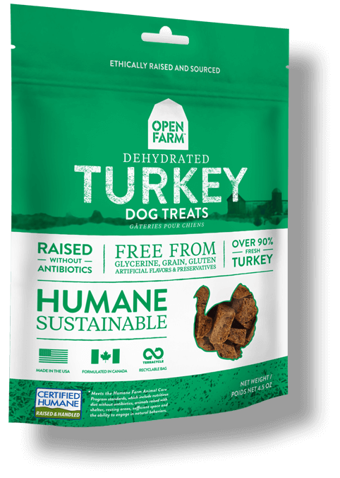 OPEN FARM Grain-Free Dehydrated Turkey Treats for Dogs