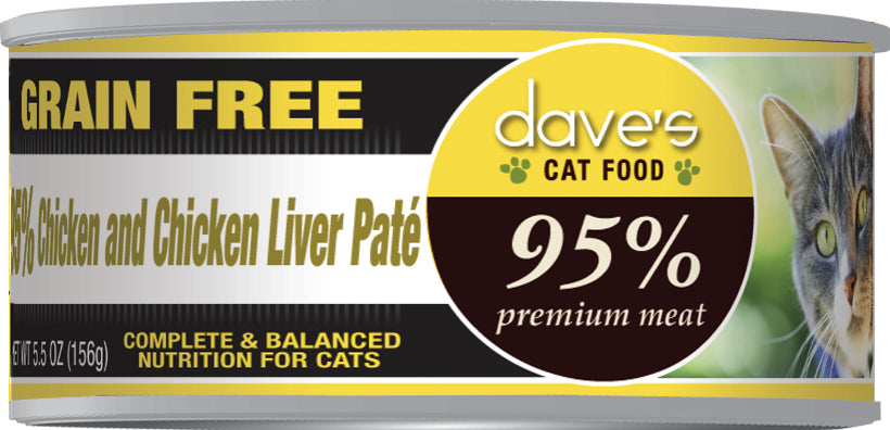 Dave's 95% Premium Meat – Chicken & Chicken Liver Paté Canned Cat Food