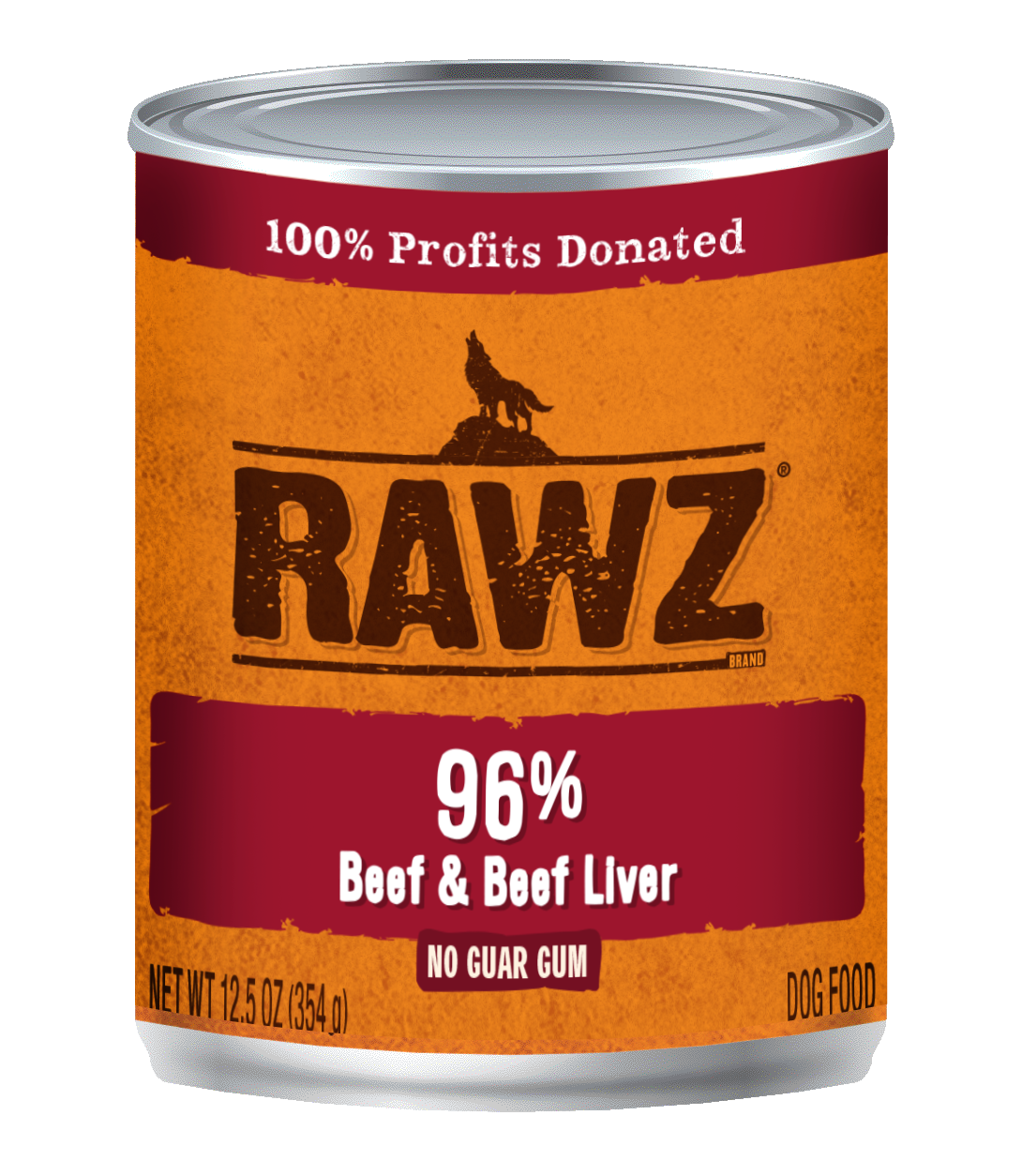 RAWZ 96% Beef and Beef Liver Canned Food for Dogs