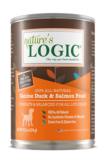 Nature's Logic Duck and Salmon Feast Canned Food for Dogs