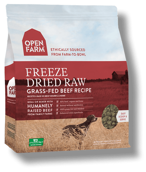 OPEN FARM Grain-Free Freeze-Dried Grass-Fed Beef Recipe for Dogs