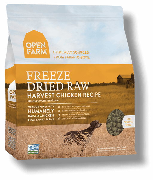 OPEN FARM Grain-Free Freeze-Dried Harvest Chicken Recipe for Dogs