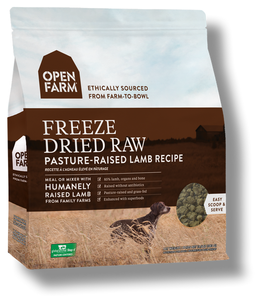 OPEN FARM Grain-Free Freeze-Dried Pasture-Raised Lamb Recipe for Dogs