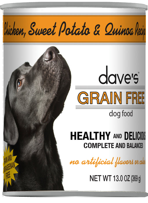 Dave's Grain Free Chicken, Sweet Potato & Quinoa Recipe Canned Dog Food
