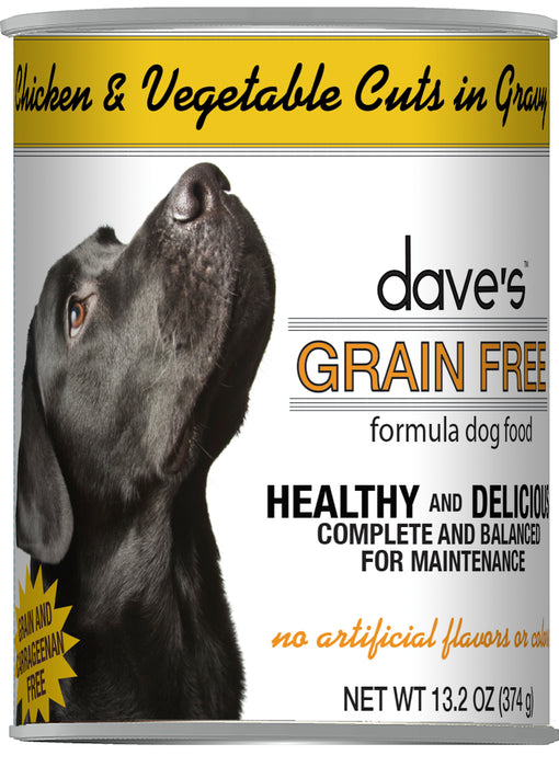 Dave's Grain Free Chicken & Vegetable Cuts in Gravy Canned Dog Food