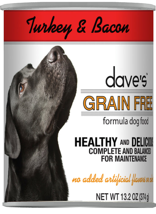 Dave's Pet Food Grain Free Turkey and Bacon Canned Dog Food
